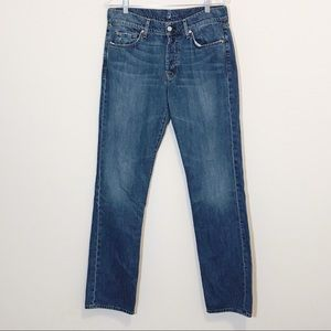 7 For All Mankind Button Fly Medium Wash Jeans 33